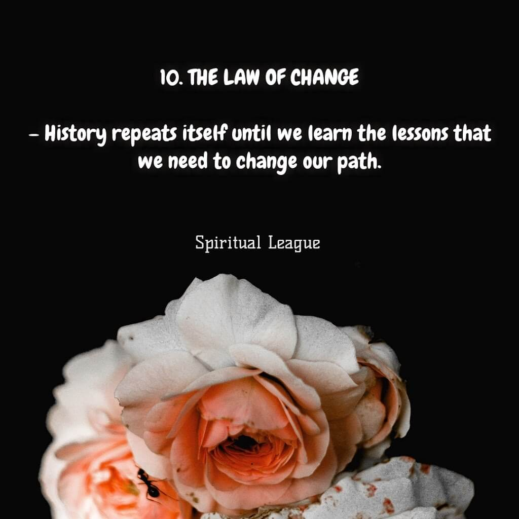 12 laws of karma  the law of change