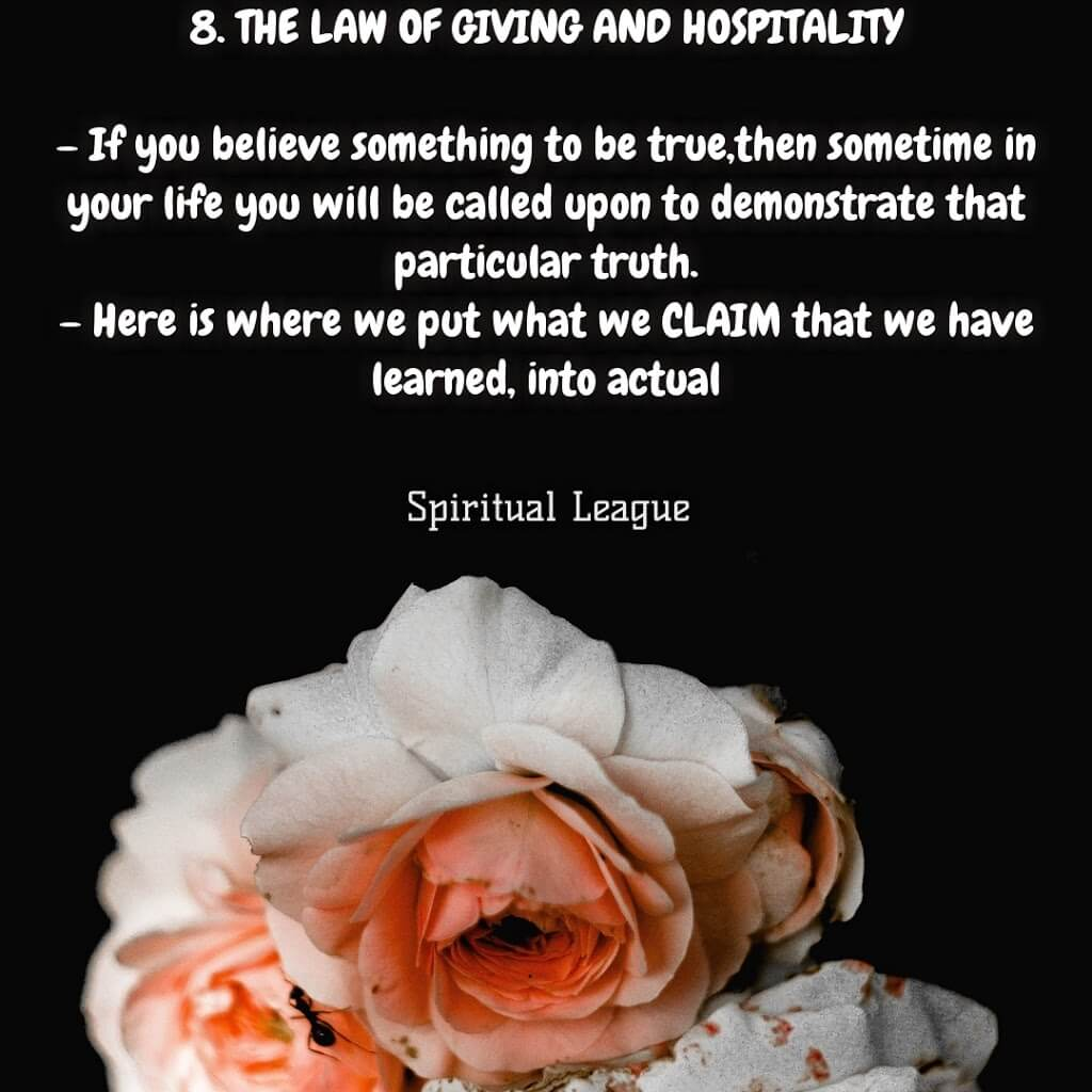 12 laws of karma  the law of giving and hospitality