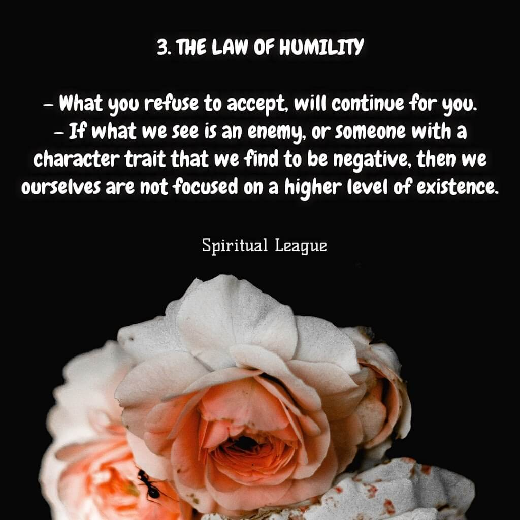 12 laws of karma  the law of humility