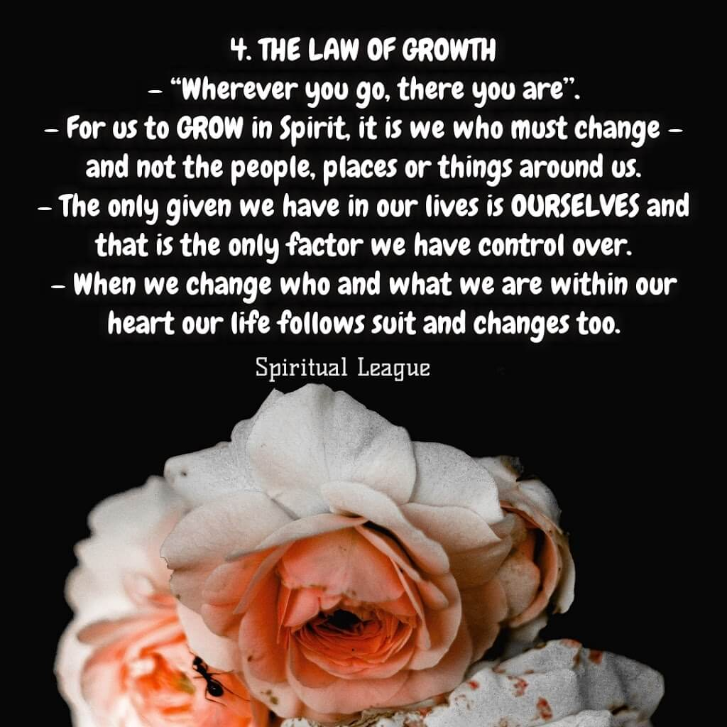 12 laws of karma the law of growth