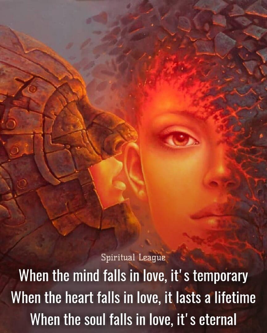 soul love eternal Spiritual League Enlightenment Quotes